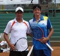 Los ecuatorianos Gonzalo Escobar y Emilio Gómez se encuentran en semifinales del tenis panamericano.