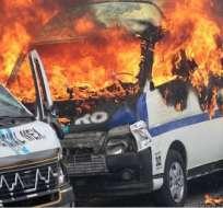 Al menos 14 heridos y una treintena de autos destruidos por inicidente en Chilpancingo. Foto: Web