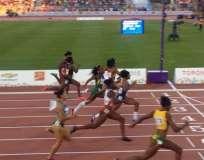 TORONTO, Canadá.- Tenorio implantó un nuevo récord sudamericano de 100 metros lisos. Fotos. Tomado de Twitter Ministerio de Deportes.