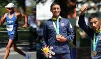 TORONTO, Canadá.- El atleta Chocho, de 31 años, cruzó la línea de meta en un tiempo de 3h50:13. Fotos: EFE