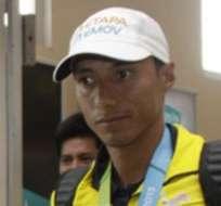 Chocho ganó el oro en los 50 kilómetros marcha. Foto: API.