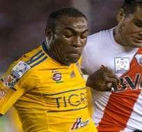 Joffre Guerrón es parte de la plantilla de Tigres aunque no ha sido titular en los últimos juegos. Foto: Archivo.