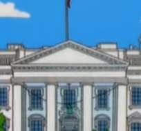 EE.UU.- Un seguidor de la serie detectó en uno de los capítulos la insólita predicción sobre la presidencia de Estados Unidos. Fotocaptura del video