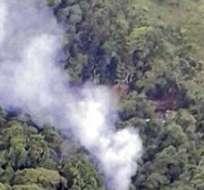 BOGOTÁ, Colombia.- Con este siniestro aéreo son 26 los efectivos muertos en Colombia en los últimos días. Foto: AFP.