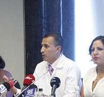 QUITO, Ecuador.- John Camacho, médico general, rechazó la participación de la Federación Médica Ecuatoriana en paro nacional. Foto: Asamblea Nacional