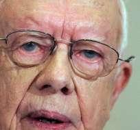 WASHINGTON, EEUU.-El ex presidente estadounidense Jimmy Carter anunció que tiene cáncer en el hígado. Foto AFP
