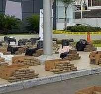 ECUADOR.- En lo que va del año 2015 la droga incautada llega a 57,54 toneladas. Foto: Twitter Ministerio del Interior