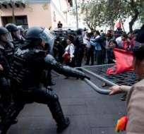 El presidente dijo que los manifestantes que generan violencia serán sancionados. Foto: Archivo