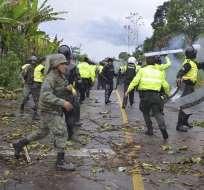 el Ministerio del Interior cifra en 104 el número de policías heridos. Foto: EFE