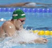 El nadador sudafricano batió su propio récord en la modalidad de los 50 metros pecho.
