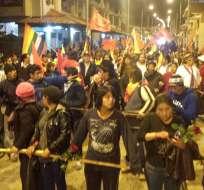 La caminata indígena llegará este jueves a Riobamba.  Foto: Facebook / Conaie