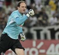 Rogerio Ceni lleva 131 goles y la cuenta podría aumentar ya que el portero se encuentra en plena actividad.