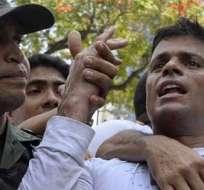 La condena de 13 años y nueve meses al opositor radical Leopoldo López provocó críticas contra gobierno venezolano. Foto archivo.