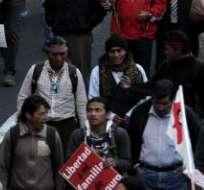 QUITO, Ecuador.- La marcha convocada en la capital saldrá desde la caja del Seguro. Foto: Archivo