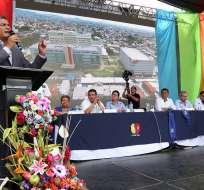 GUAYAQUIL, Ecuador.- El jefe de Estado dijo que pese a la crisis, la inversión en salud continuará. Foto: Presidencia de la República