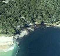 Así se ve desde el aire cómo quedó la península.