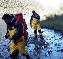 Los rescatados presentaban síntomas de hipotermia, según el Ministerio del Interior.