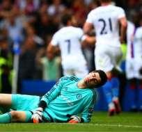 Courtois se lesionó durante una sesión de entrenamientos con el Chelsea. Será operado en una de sus rodillas.