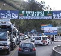 CARCHI, Ecuador.- Casi 5.000 comerciantes de la provincia podrán comprar un cupo en dólares de productos colombianos. Foto: Archivo
