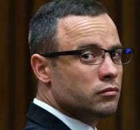 El atleta fue condenado el 2014 por haber matado el 14 de febrero del 2013 a su novia. Foto AFP