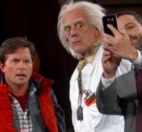 Esta semana la tendencia en las redes sociales fue el regreso de Marty McFly y Doc al futuro. Foto: Captura de Video.