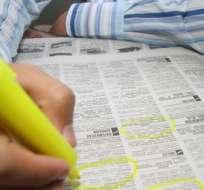 ECUADOR.- Según la Cepal y la OIT, Ecuador está entre los 15 países con mayor tasa de desempleo. Foto referencial de Internet
