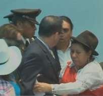 QUITO, Ecuador.- Los asambleístas del bloque oficial Juan Carlos Cassinelli y Virgilio Hernández discreparon previo a la aprobación de la ley. Fotocaptura del video