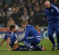 Diego Costa sufrió un golpe en las costillas y tuvo que ser hospitalizado.