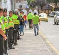 21.000 uniformados se desplegarán en 469 puntos de concentración masiva. Foto: Referencial / Ministerio del Interior