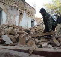 El temblor, de una magnitud de 7,5, sacudió Afganistán, Pakistán e India. Foto: AFP