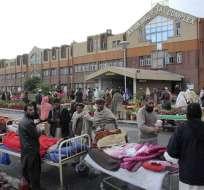 Al menos 38 personas murieron y cientos resultaron heridos en el noroeste de Pakistán. Foto: EFE