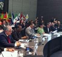QUITO, Ecuador.- Ministros de Ambiente y cancilleres de la Celac analizan el cambio climático para definir posición como bloque. Foto: Cancillería del Ecuador
