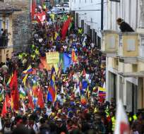 ECUADOR.- Para este 11 de noviembre, organizaciones sindicales retomarán las marchas que han desarrollado a lo largo del año. Foto: Archivo de Ecuavisa