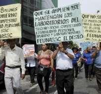 GUAYAQUIL, Ecuador.- Campesinos y agricultores iniciaron esta mañana las manifestaciones en Guayaquil. Foto: API