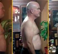 John Cisna seguió durante 180 días en una dieta basada únicamente en productos de McDonald's y perdió 27 kilos. (Foto: John Cisna)