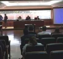 QUITO, Ecuador.- La audiencia de juzgamiento se inició la mañana de este 20 de noviembre de 2015. Foto: Corte Nacional de Justicia