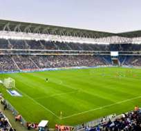 Vista general del estadio Estadio Cornellà-El Prat, sede del cuadro catalán. Foto tomada de la página web del Espanyol