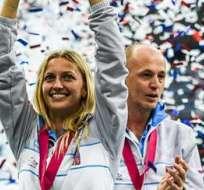 PRAGA, República Checa.- Pliskova, 11ª jugadora del ránking femenino, fue fundamental para su equipo al lograr los dos últimos puntos de la eliminatoria. Fotos: EFE.