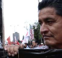 QUITO, Ecuador.- Gremios sociales piden la eliminación del derecho a la contratación colectiva en el sector público. Foto: API.