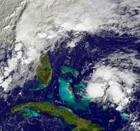 El huracán avanza hacia el noreste hasta convertirse en un ciclón extratropical. Foto: Web
