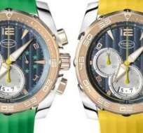 Los relojes fueron obsequiados en vísperas del partido inaugural del Mundial de Brasil 2014.