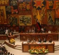 QUITO, Ecuador.- Foto de archivo de la Asamblea Nacional. Foto tomada de la Asamblea Nacional