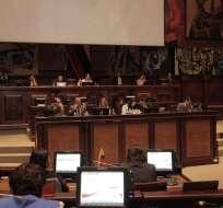 ECUADOR.- La Asamblea realiza el segundo debate del proyecto de Ley de la Identidad y Datos Civiles. Foto: Asamblea
