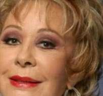 """""""Es un señor (el supuesto médico que dio a conocer el diagnóstico de alzheimer) que no tiene la menor idea"""", dijo la actriz de 84 años. Foto: Web."""
