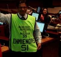 QUITO, Ecuador.-La Asamblea Nacional aprobó el 3 de diciembre el paquete de enmiendas constitucionales. Foto archivo API