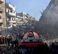 Un ataque con coche bomba y uno sucida se reportó en la ciudad de Homs. Foto: EFE