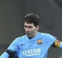 LEVERKUSEN, Alemania.- Messi marcó el primer tanto del encuentro. Foto: EFE.