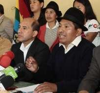QUITO, Ecuador.-Organizaciones sociales de Ecuador anunciaron hoy que presentarán una demanda de inconstitucionalidad contra las enmiendas a la Constitución. Foto API