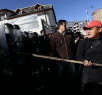 En la avenida 12 de octubre y Tarqui se desarrollan protestas contra las enmiendas. Foto: API