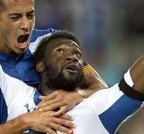 El ecuatoriano se convirtió en un grito de gol para Espanyol. Foto: EFE.